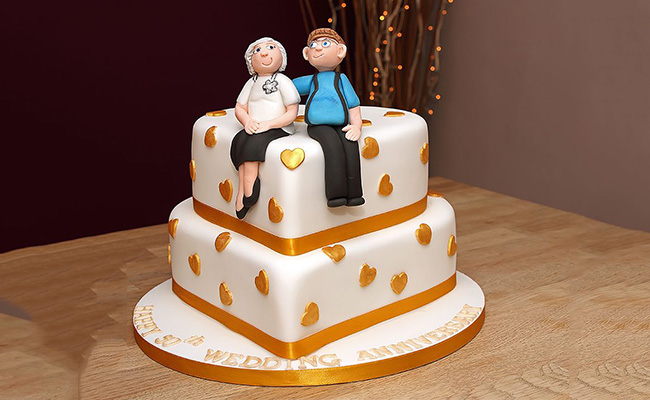 Marriage Anniversary Cakes for Parents' Anniversary